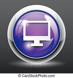 isolated Computer icon button
