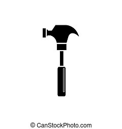 Isolated construction hammer vector design