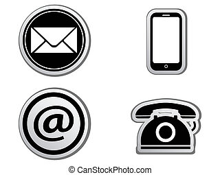Contact icon buttons set