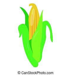 Isolated corn illustration