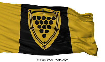 Isolated Cornwall Ontario city flag, Canada - Cornwall...