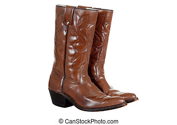 isolated cowboy boots