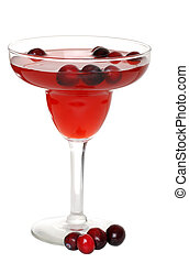 cranberry cocktail with berries