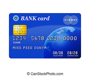 Isolated illustration of a typical credit card