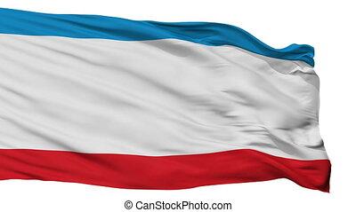 Isolated Crimea city flag, Ukraine - Crimea flag, city of...