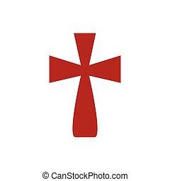 Isolated cross icon