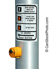 Isolated Cross walk button