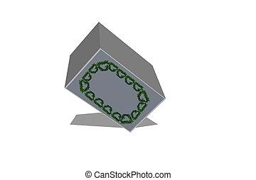 Isolated Cuboid - 3D Illustration - 3d render of white...