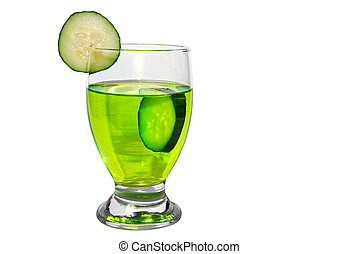 Isolated Cucumber Drink