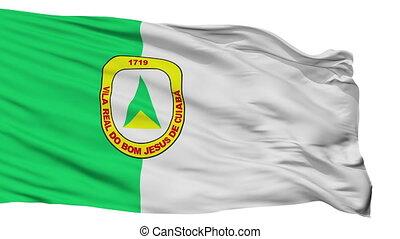 Isolated Cuiaba city flag, Brasil - Cuiaba flag, city of...