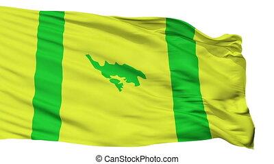 Isolated Culebra city flag, Puerto Rico - Culebra flag, city...