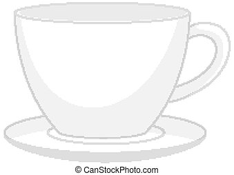 Isolated cup of coffee logo on white background