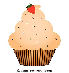Isolated cupcake illustration