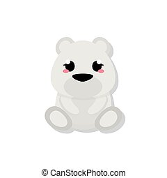 Isolated cute baby bear