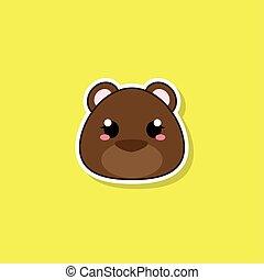 Isolated cute baby bear
