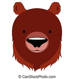 Isolated cute bear avatar