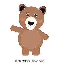 Isolated cute bear