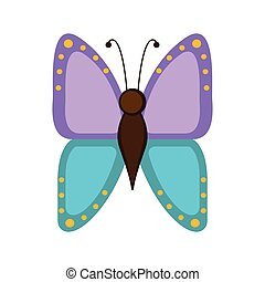 Isolated cute butterfly icon