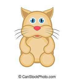 Isolated cute cat icon