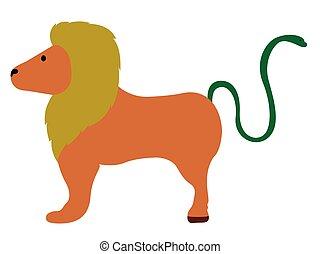 Isolated cute chimera icon. Vector illustration design