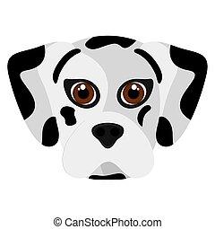 Isolated cute dalmatian cartoon