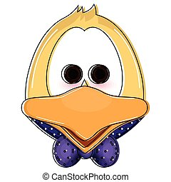 Isolated cute duckling cartoon