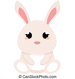 Isolated cute easter bunny
