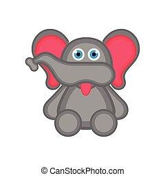 Isolated cute elephant icon