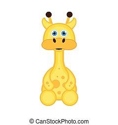 Isolated cute giraffe icon