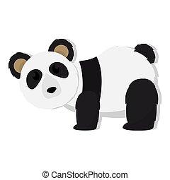 Isolated cute panda bear