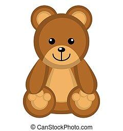 Isolated cute teddy bear