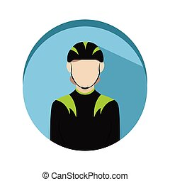 Isolated cyclist icon
