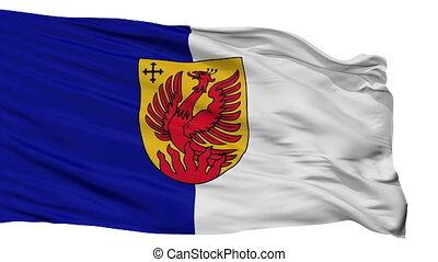 Isolated Dagda city flag, Latvia - Dagda flag, city of...