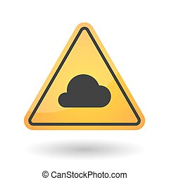Isolated danger signal icon with a cloud