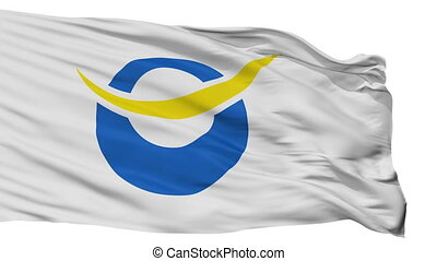 Isolated Date city flag, prefecture Fukushima, Japan - Date...
