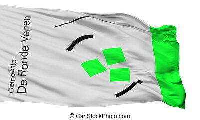 Isolated De ronde venen city flag, Netherlands - De ronde...