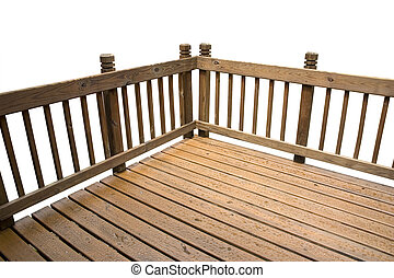 a deck isolated on a white background