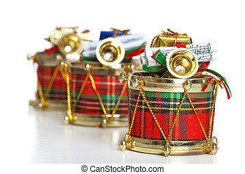 decorated christmas drums
