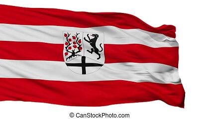 Isolated Delbruck city flag, Germany - Delbruck flag, city...