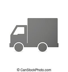 Illustration of an isolated delivery truck icon