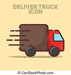 Isolated Delivery Truck Icon Vector Illustration