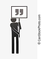 Isolated demonstrator with quotes - Illustration of an ...
