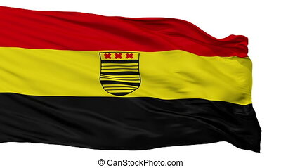 Isolated Deurne city flag, Netherlands - Deurne flag, city...