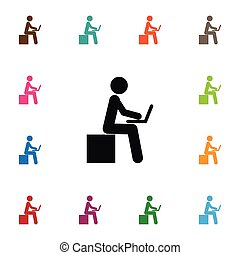 Isolated Developer Icon. Learning Vector Element Can Be Used For Developer, Learning, Boy Design Concept.