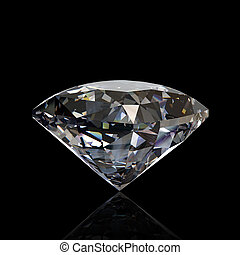 isolated., diamante, piedra preciosa, redondo