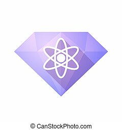 Isolated diamond with an atom