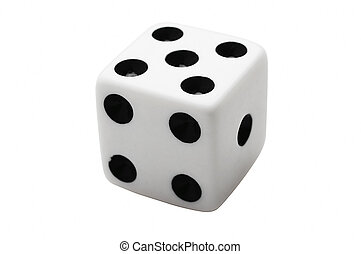 dice - Isolated dice showing number 5