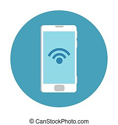 Isolated digital smartphone iwth wifi icon vector design