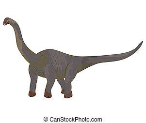 isolated dinosaur on white background vector design
