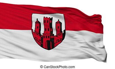 Isolated Dinslaken city flag, Germany - Dinslaken flag, city...